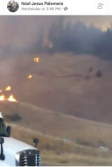This screenshot, from a video Noel Jesus Palomera took and posted on Facebook of his drive on Interstate 5, shows how quickly the Delta Fire spread on Wednesday, Sept. 5, 2018 north of Lakehead.