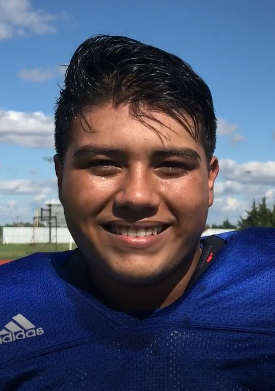 Manuel Baeza helped the Lake View Chiefs to their first shutout since 2007 in a 35-0 win Friday, Sept. 7, 2018, over Fabens at San Angelo Stadium.