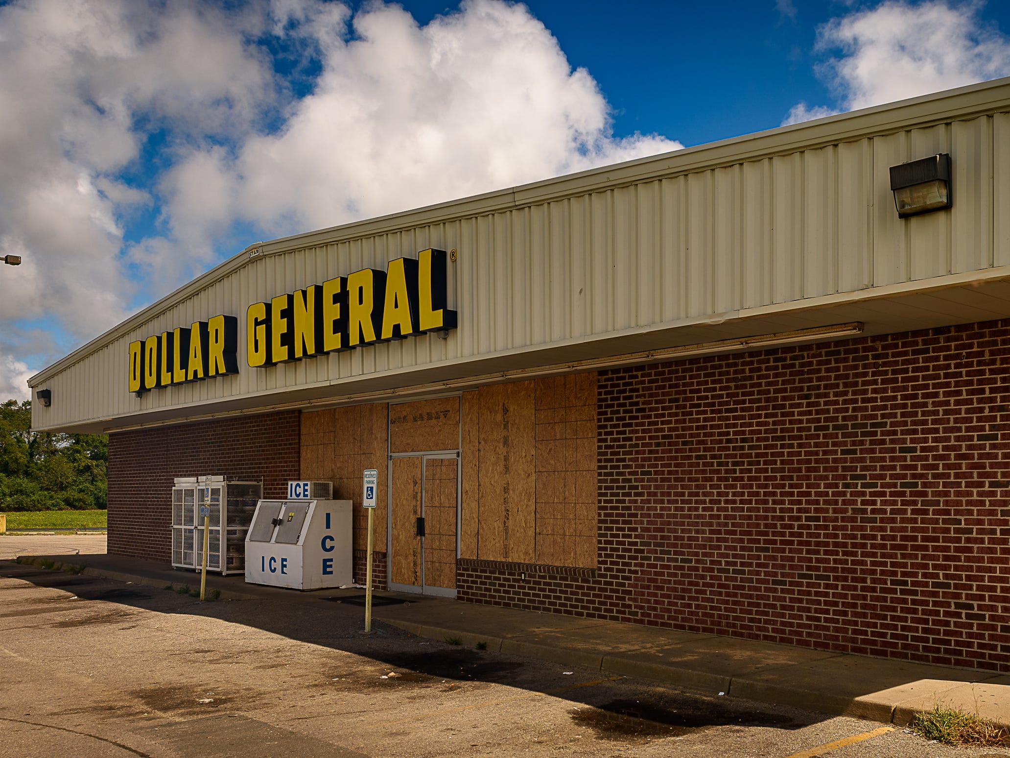 The Dollar General in Cape Charles boarded up in preperation for Hurricane Florence, which was expected to make landfall Friday.