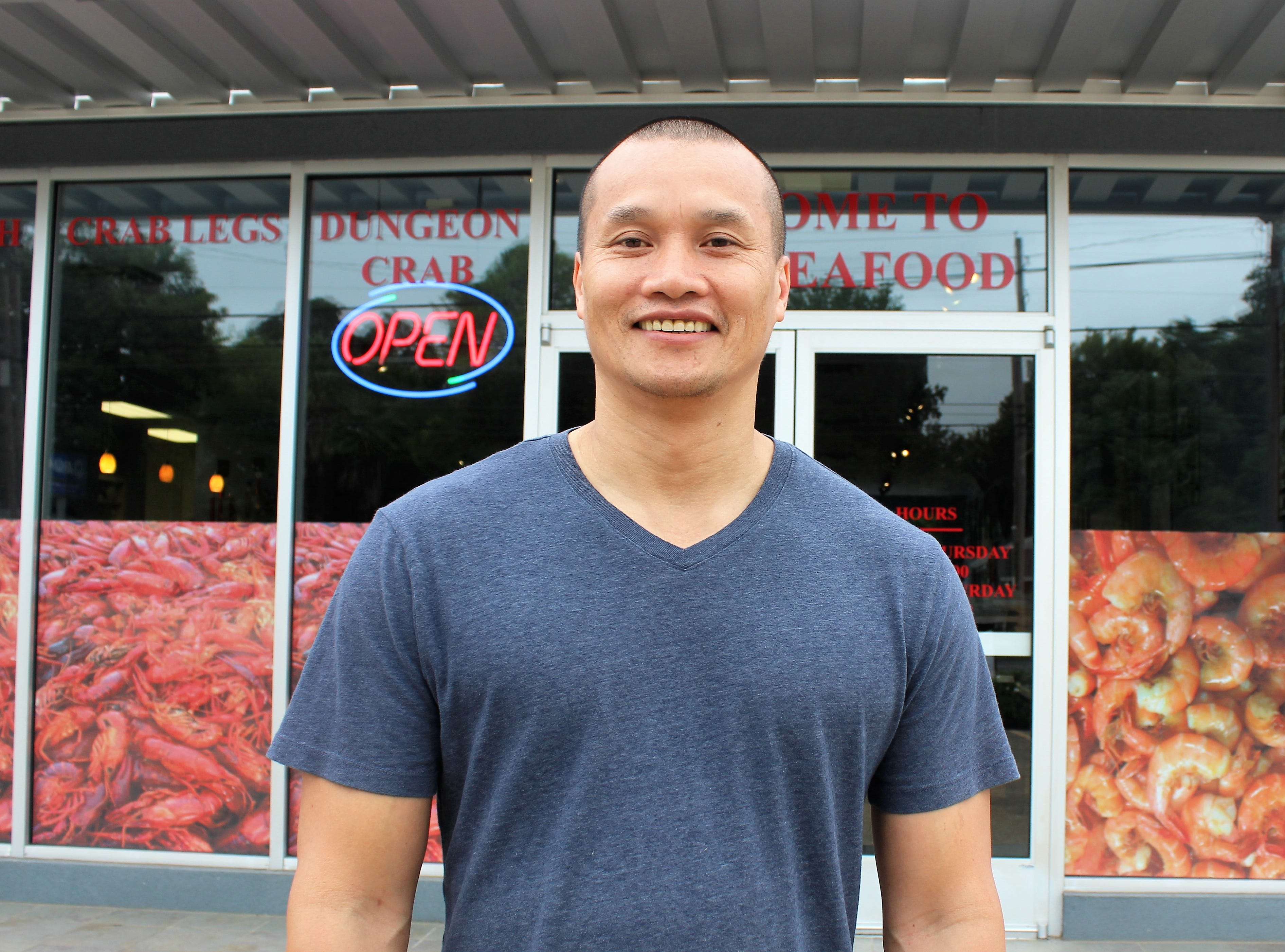 Duc Duong, owner of Kim's Seafood and Po-Boy