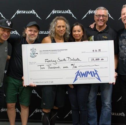Metallica rocks Feeding South Dakota with donation to help end S.D. hunger