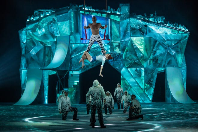 Cirque du Soleil's show Crystal features ice skating in addition to acrobatics.