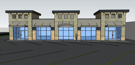 This is an artist's rendering of the retail space that will replace Mr. Smith's Fast Lube.
