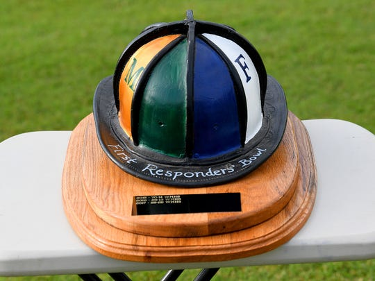 Trophy for the First Responder's Bowl, played in Fishersville on Wednesday, Sept. 12, 2018.