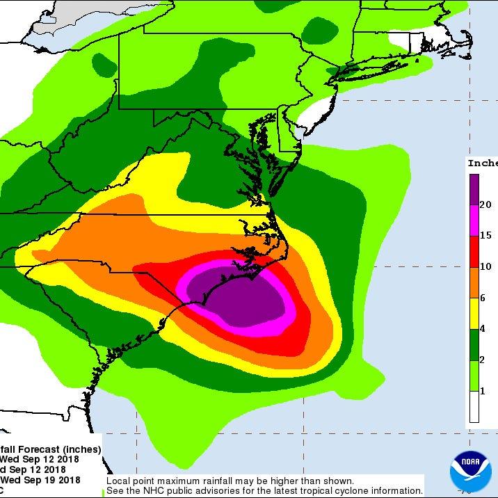 Staunton emergency alerts for Hurricane Florence
