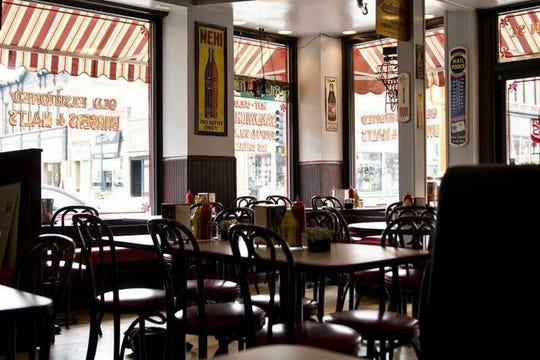 The interior of Leo's Grill & Malt Shop in Stillwater, Minn. Owner Cory Buettner is a St. Cloud native and named the diner after his father.
