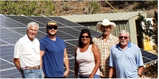 Brooks Pace (from left), Cris Pace, Lisa Chauvin, Jim Clonts and John Price of Dammeron Valley Water Works.
