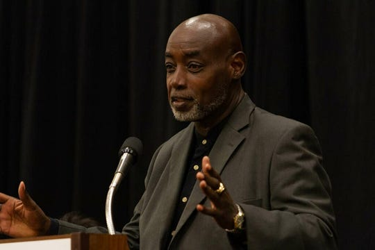 Ira Reynolds speaks at Tuesday's Student Safety Summit at the Tucker Civic Center.