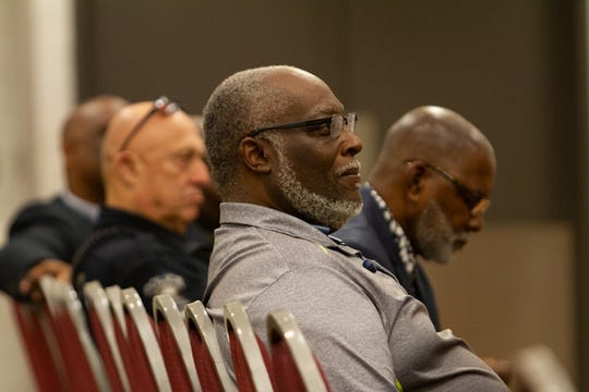 Audience members listen to speakers at Tuesday's Student Safety Summit.