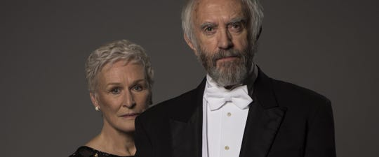 "Glenn Close, left, and Jonathan Pryce star in ""The Wife,"" opening Friday."