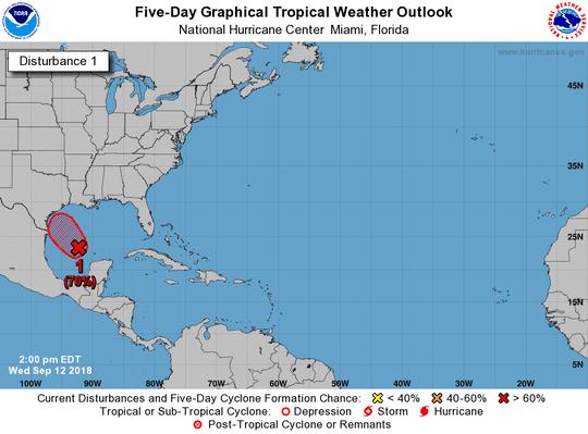 Tropical wave 2 p.m. Sept. 12, 2018