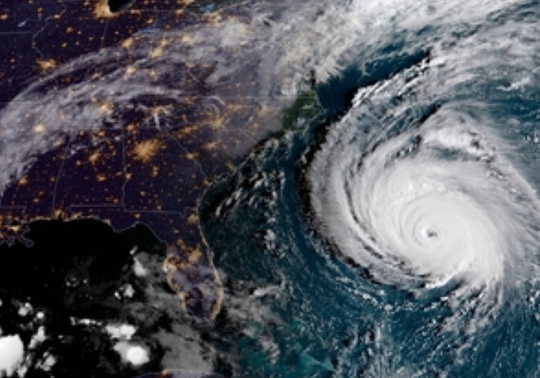 The eye of Hurricane Florence as of 8 a.m. on Sept. 12, 2018.