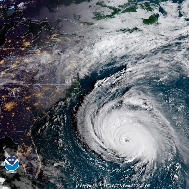 Hurricane Florence Sept. 12, 2018.