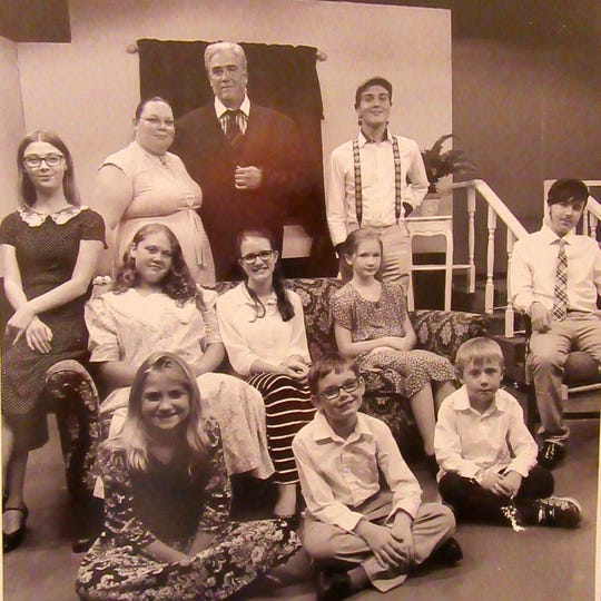 """A handful of local children will star in their first mainstage production in """"Cheaper by the Dozen"""" at the Pineapple Playhouse this month. Running through Sept. 23, the two-act play about the real-life exploits of efficiency expert, Frank Gilbreth, is based on the book by his children, Frank Gilbreth Jr. and Ernestine Gilbreth Carey."""