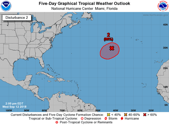 Tropical wave 2 p.m. Sept. 12, 2018