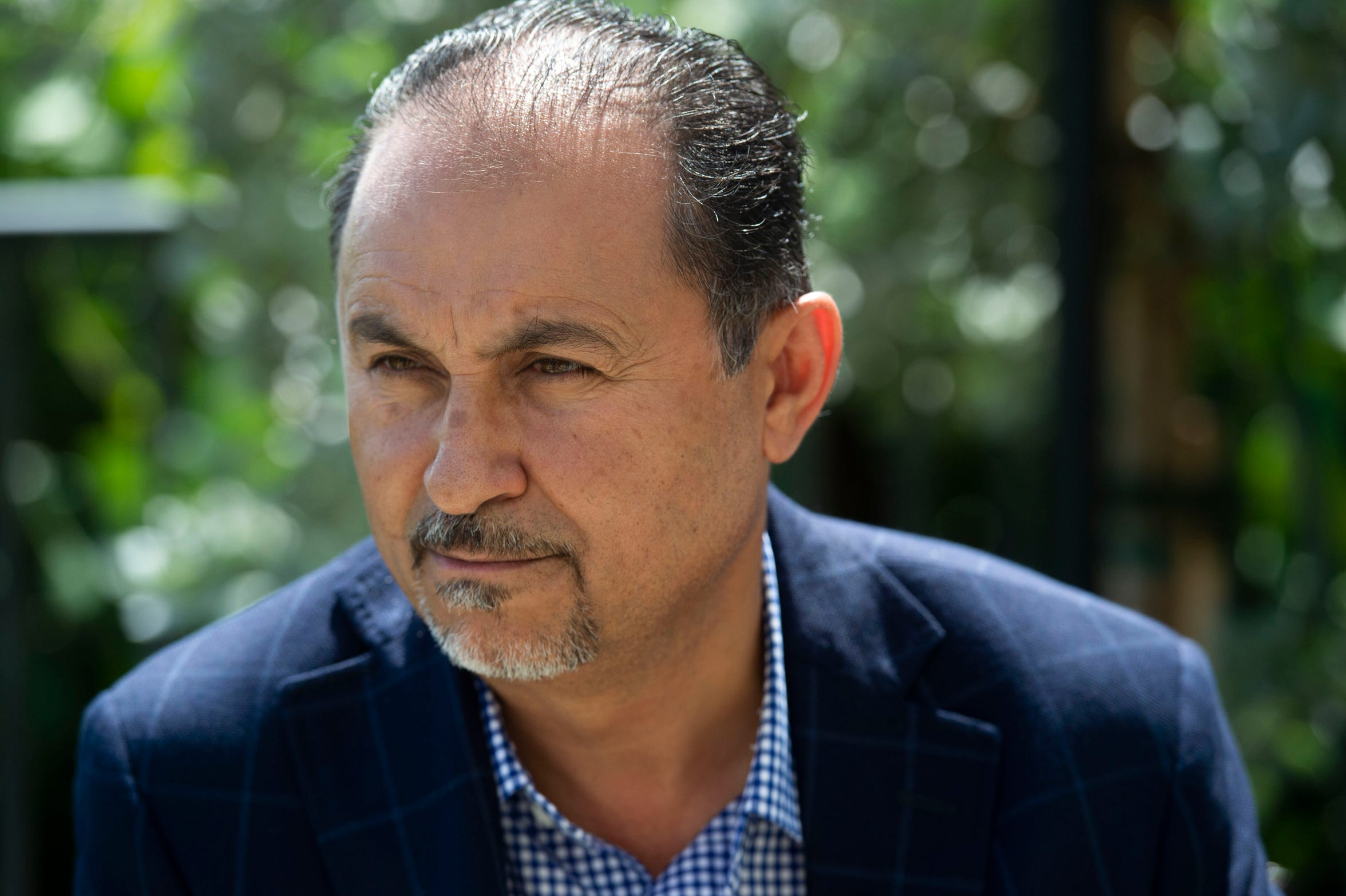 """We need to look at ourselves to make a decision based on issues, not party lines,"" said Raed Alshaibi, 50, of Indialantic, a hotelier who manages a beachfront resort in Melbourne. Alshaibi is highly concerned about the deteriorating environment in the privatization of beaches. ""Most of our economy is tourism. And if we don't take care of our shores and the environment, we're just going to drive people away, and it's going to affect us big time,"" he said. ""We should really focus on our strength... and this is our strength, this beautiful water."""