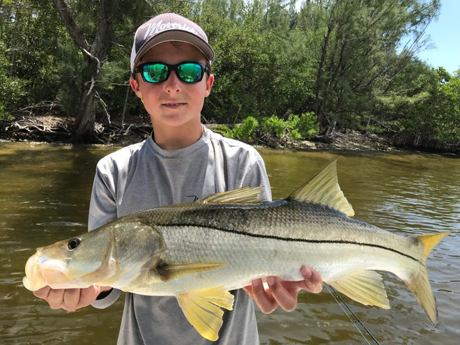 Bo Johnson, 14, of Vero Beach is looking forward to fishing the next Lines in the Lagoon fishing tournament Sept. 28-29.