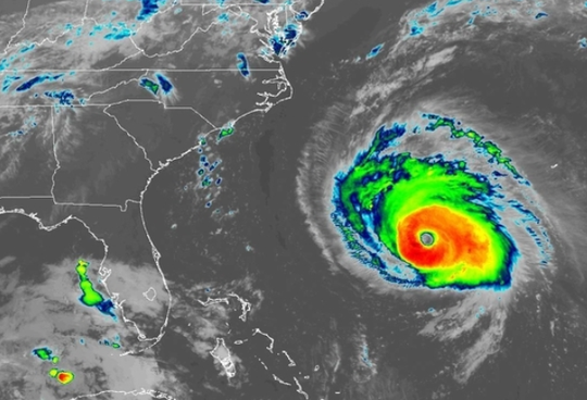 Hurricane Florence satellite image 5 a.m. Sept. 12, 2018.