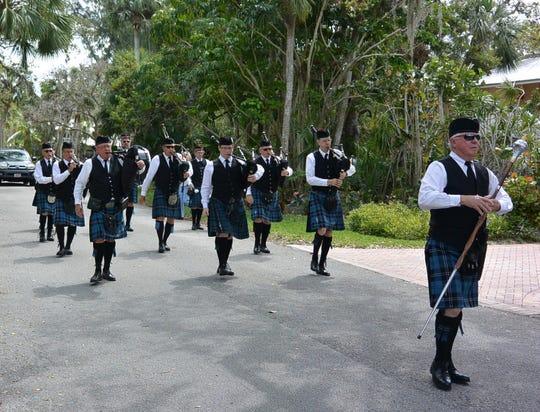 Vero Beach Pipes & Drums members perform at parades around the Treasure Coast.