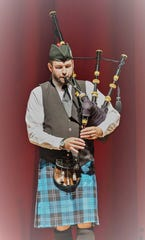 Pipe Major Jacob Craig performs in the 2017 fundraiser concert at First Presbyterian Church in Vero Beach.