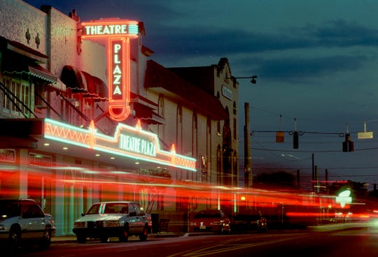 The exterior of the Florida Theatre Plaza along 14th Avenue is seen February 4, 1999, in this timelapse photograph.