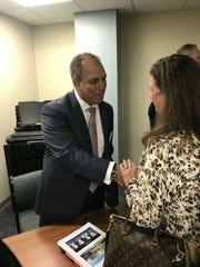 Dr. Wael Barsoum, CEO of Cleveland Clinic Florida, visits Indian River Medical Center in December 2017.