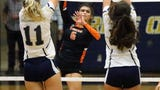 Hitter Hannah Payan led El Paso High to a win against Burges in 4 sets on Tuesday night at EPHS.