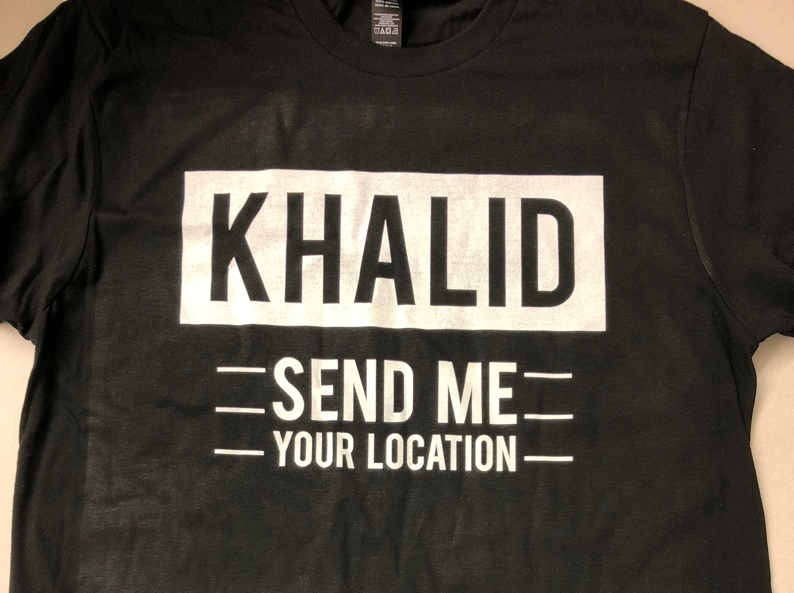 Proper Printshop, at 800 Montana, will be selling Khalid shirts ahead of this weekend's concerts.