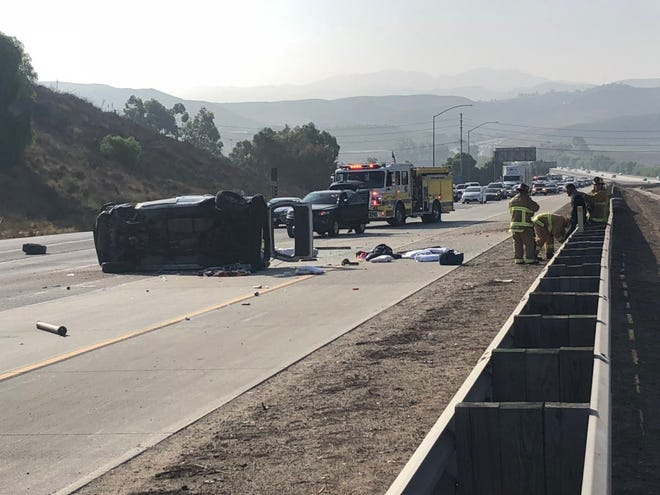 A rollover on northbound Highway 23 in Moorpark Wednesday morning was expected to slow traffic until 10 a.m.
