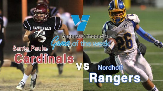 This week Santa Paula Cardinals will face the Nordhoff Rangers in the Ventura Orthopedics Game of the Week, presented by the Ventura County Star.