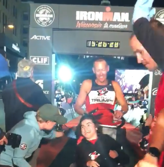 At Ironman Wisconsin, a beautiful thing turned near-failure into heartwarming victory