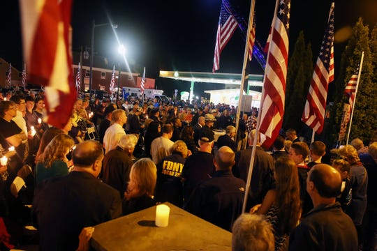 Hundreds were on hand for the annual Putnam Heroes Memorial and Candlelight Vigil at Cornerstone Park on Route 52 and Fair Street in Carmel Sept. 11, 2018.