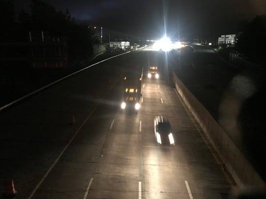 All lanes are open on the newly opened second span of the Gov. Mario M. Cuomo Bridge, Sept. 12, 2018.  Traffic is headed toward Westchester.