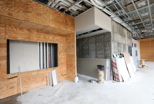 The lobby under construction of a new rental property from Lighthouse Living, being constructed at 1 Dekalb Avenue in White Plains, as seen Sept. 12, 2018.