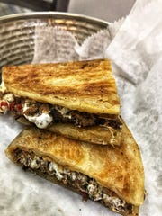 Meat and cheese paratha at The Nook Eatery in New Rochelle. Photographed Sept. 12, 2018.