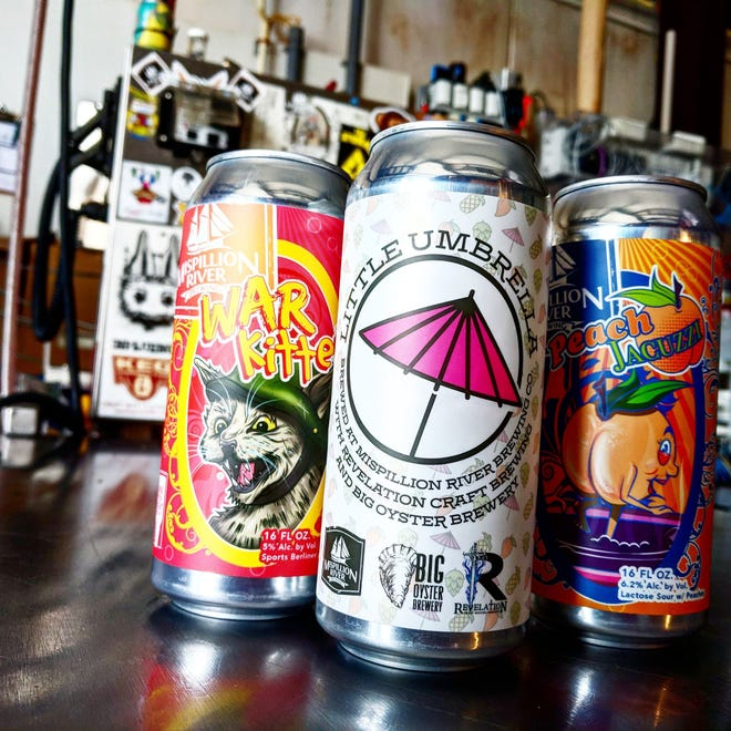 Little Umbrella -- a collaborative brew between Big Oyster Brewery, Mispillion River Brewing and Revelation Craft Brewing -- is now available in 16-ounce cans at each brewery.