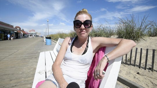 Michelle Battersby of Crum Lynne, Pa., vacationing at Rehoboth Beach.