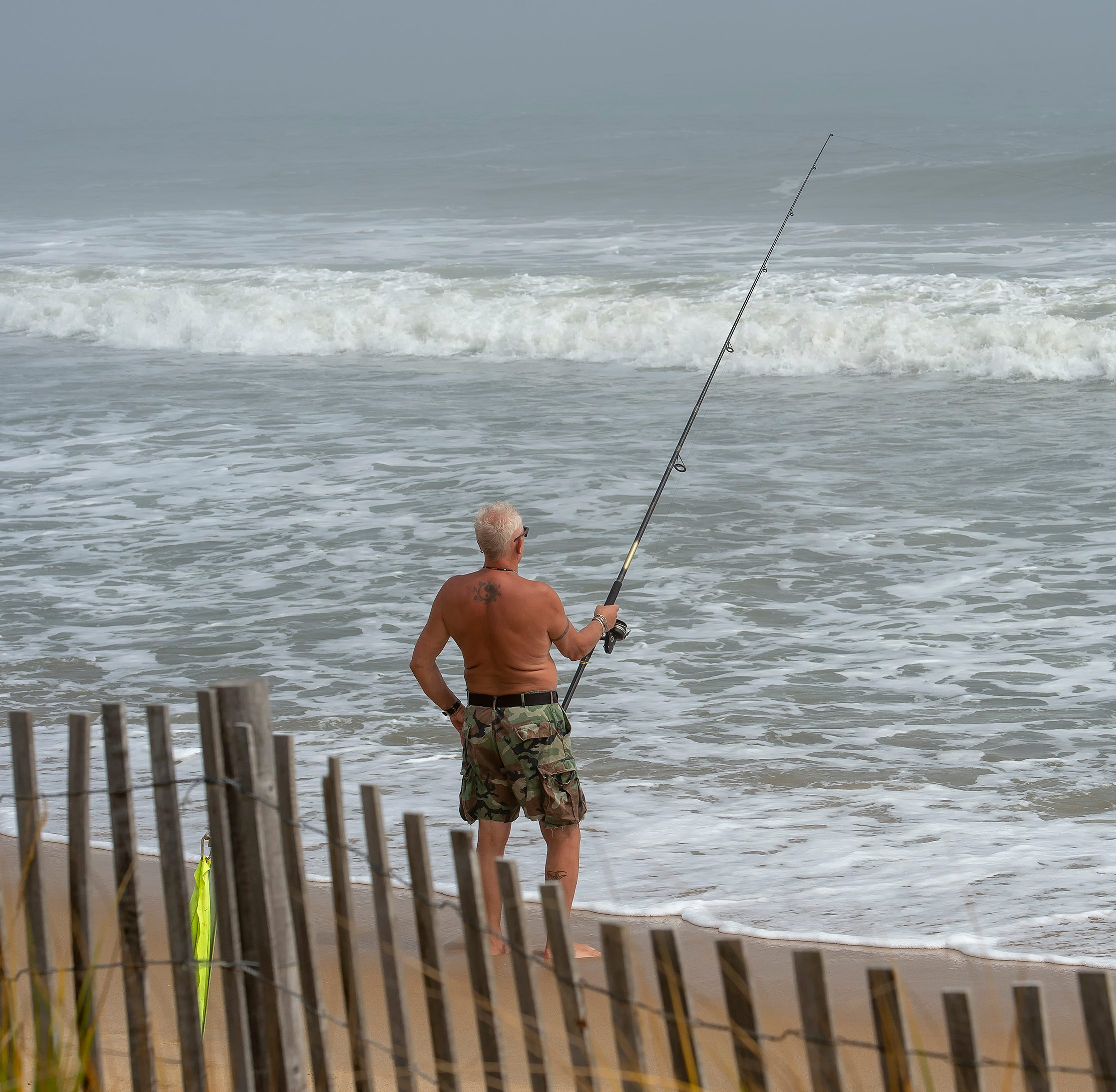 Not much to fish for with all the rain and wind