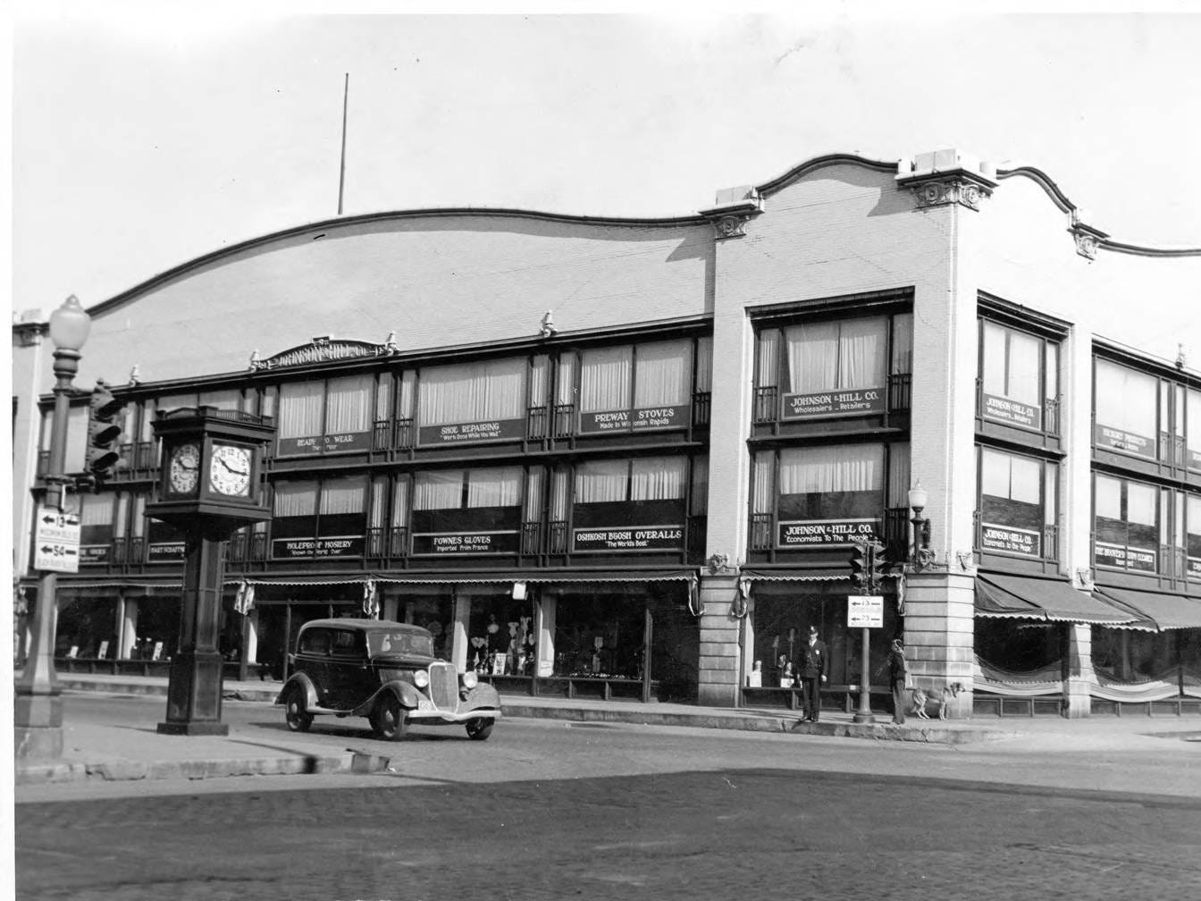 The Johnson & Hill Department store was built in 1912. This photo was taken in about 1934.