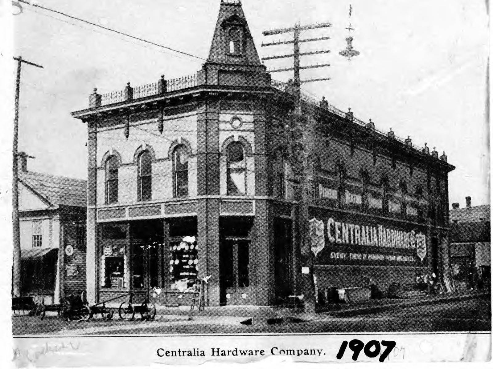 Centralia Hardware Company in 1907 in downtown Wisconsin Rapids