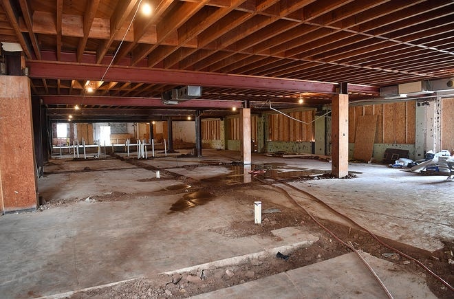 About 3,500 square feet of the first floor of the former Maskat Temple building on Lamar will be dedicated to retail space as part of the building's renovation into apartments.
