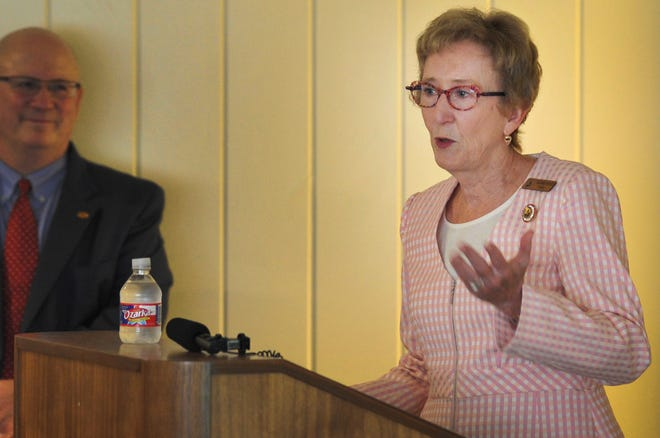 Midwestern State University, president Suzanne Shipley spoke during a tour of the Lifelong Learning Center, Wednesday morning.