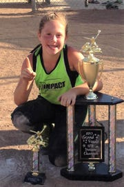 In her final game, Celine Wyatt lead her team to a 7-6 championship.