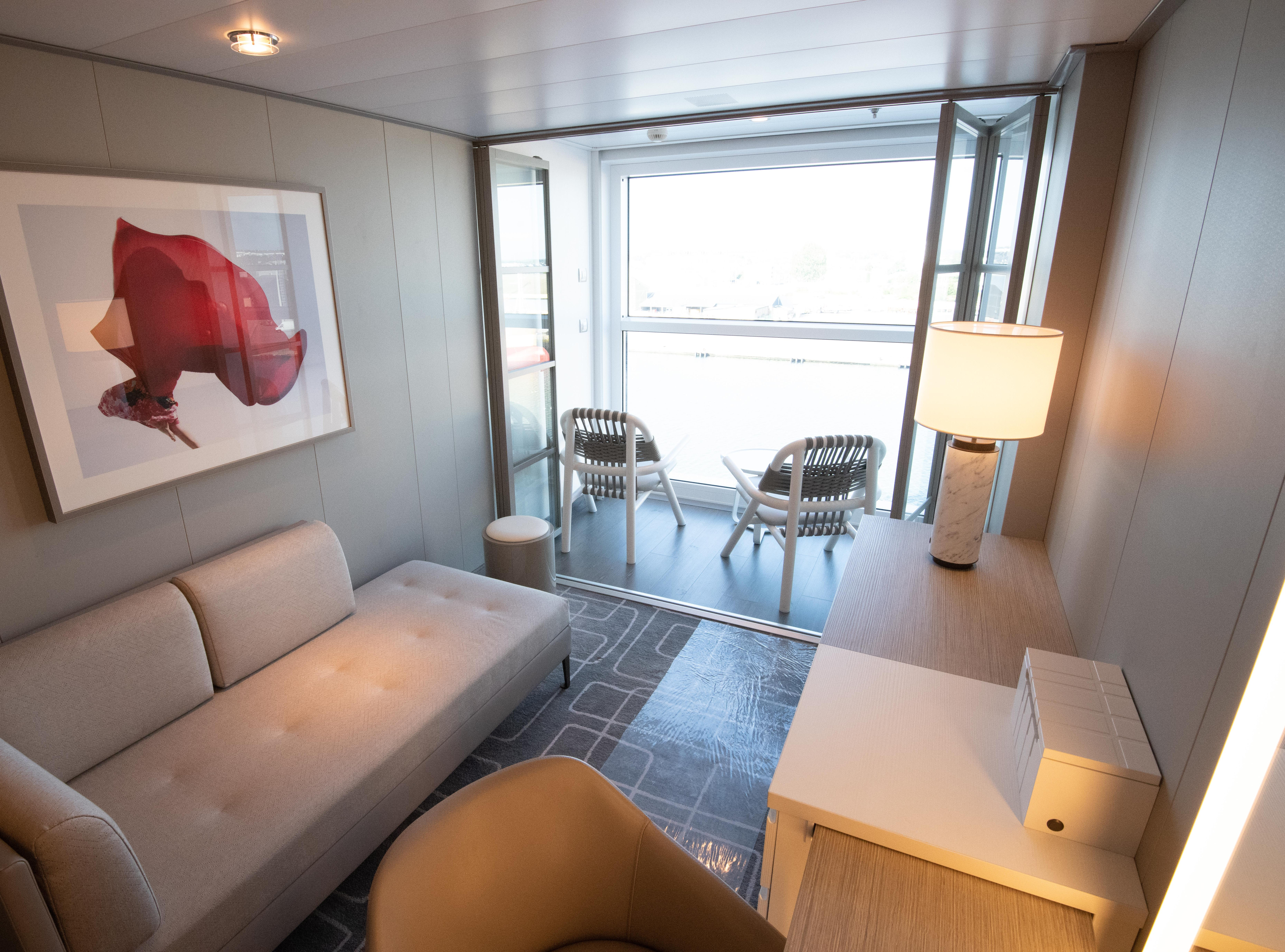 Billed as a first for an ocean cruise ship, Infinite Veranda cabins will have balconies that are incorporated into the main cabin area.
