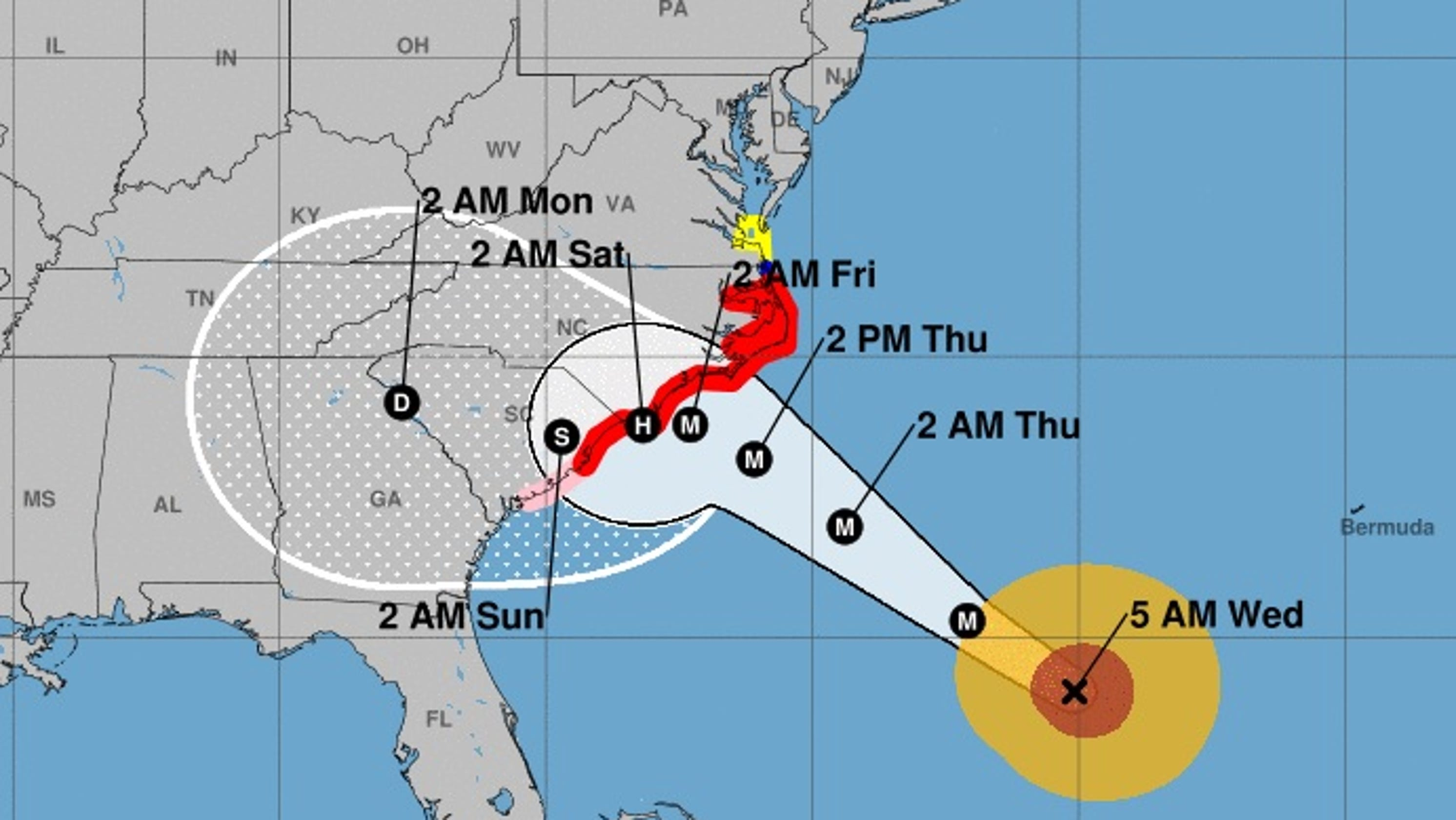 Hurricane Florence Path Where Is The Hurricane Right Now - Us-navy-hurricane-tracking-map