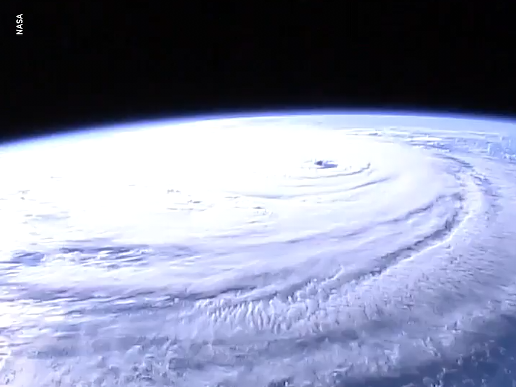 Hurricane Florence seen in high-def NASA camera
