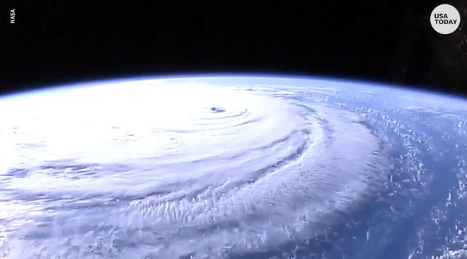 Hurricane Florence seen in high-def NASA camera
