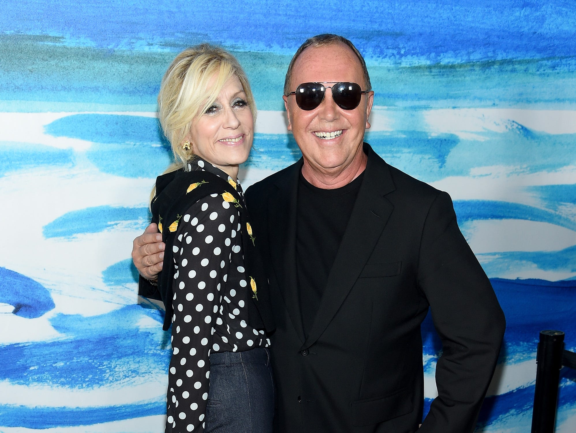 NEW YORK, NY - SEPTEMBER 12: Judith Light (L) and Michael Kors pose backstage during the Michael Kors Collection Spring 2019 Runway Show at Pier 17 on September 12, 2018 in New York City.  (Photo by Dimitrios Kambouris/Getty Images for Michael Kors) ORG XMIT: 775216954 ORIG FILE ID: 1032135616