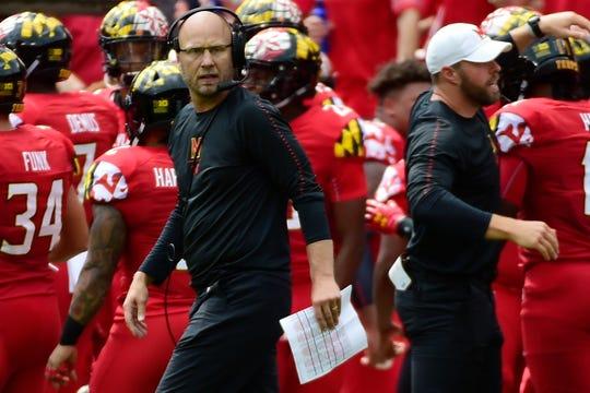 Maryland Terrapins interim head coach Matt Canada.