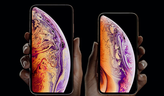 Apple's iPhone XS Max, left, and XS